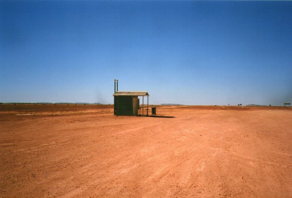 The Little Public Loo at the End of the Universe! Junction of Birdsville and Windorah/Bedourie Roads, Queensland