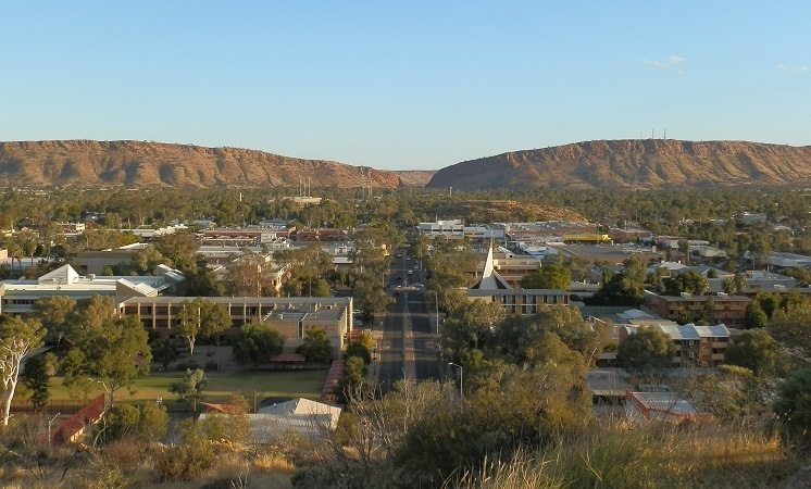 Alice Springs from Anzac Hill, Northern Territory