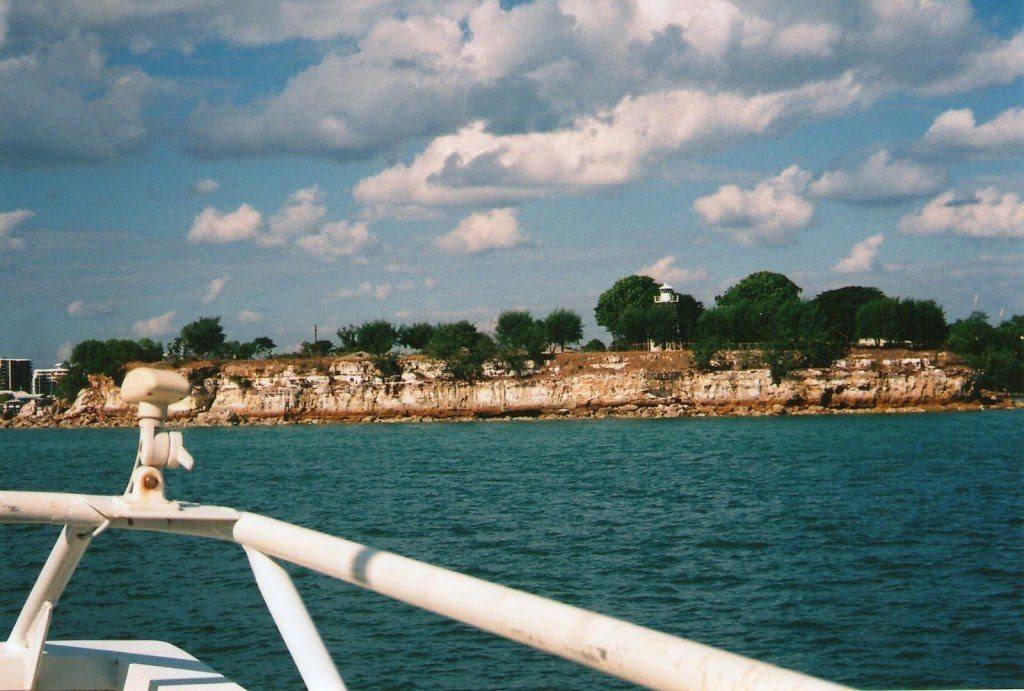 Darwin's cliffs from the Mandorah Ferry