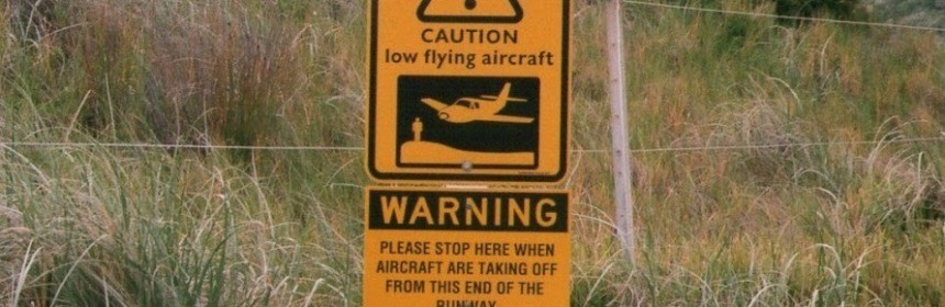 Lord Howe Island Airstrip Sign