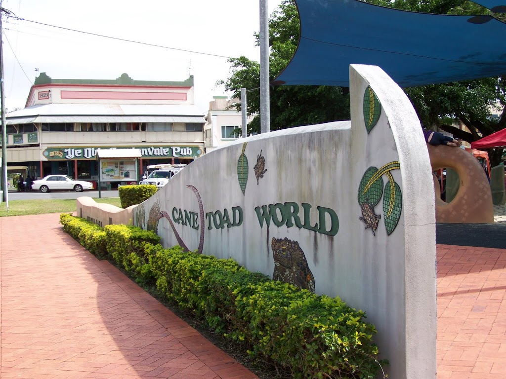 Entrance to Cane Toad World, Gordonvale, QLD