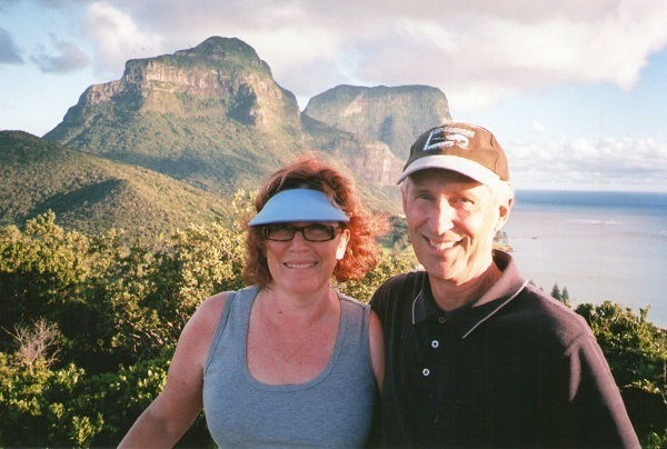 Pilchard and I on Lord Howe Island, New South Wales