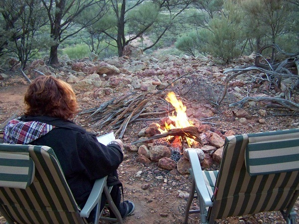 Campfire, Swanvale Jump-Up, Outback Queensland**