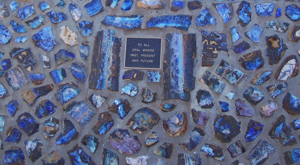 Detail of Opal at Miner's Monument, 'Opalopolis Park', Eromanga, Queensland