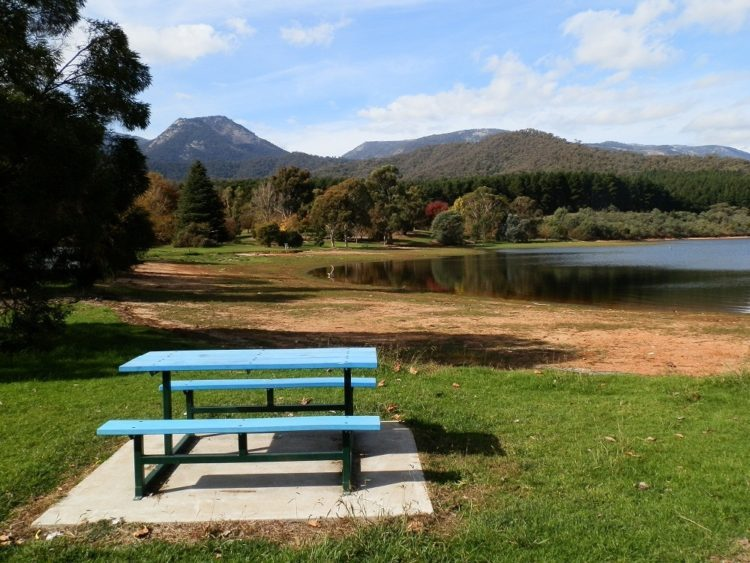 Lake Buffalo, in the shadow of Mt Buffalo, Victoria