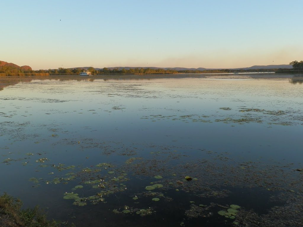 The view from our campsite at the Lakeside Tourist Resort, Kununurra