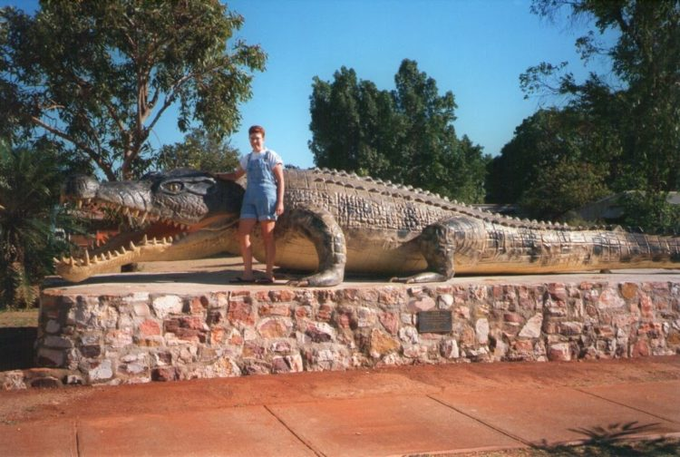 'Krys', the world's largest crocodile, Normanton, Queensland