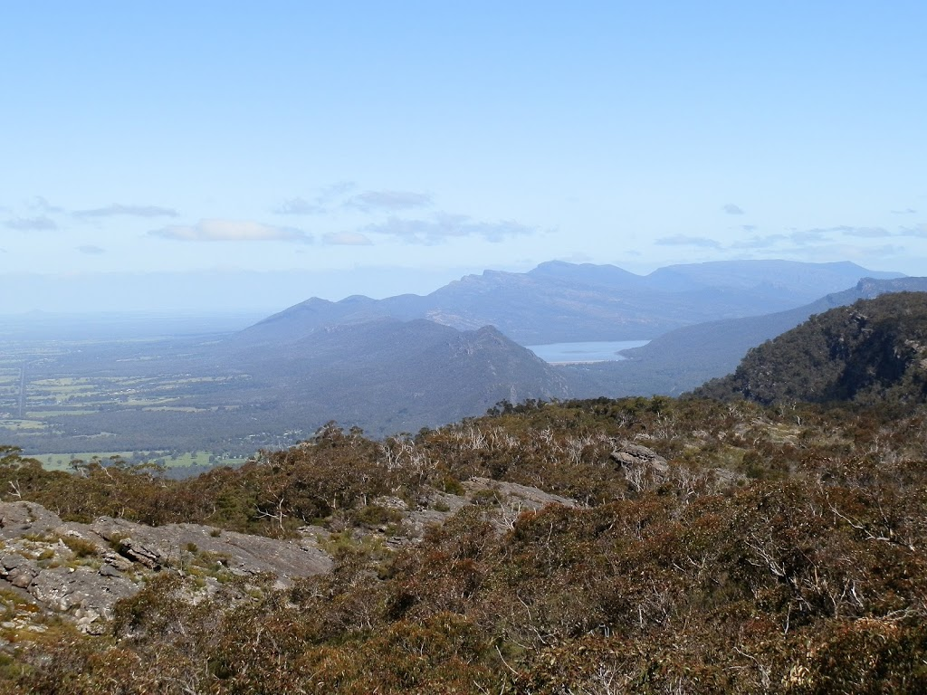 Lake Bellfield and Halls Gap from Lake Wartook Lookout, Grampians, Victoria