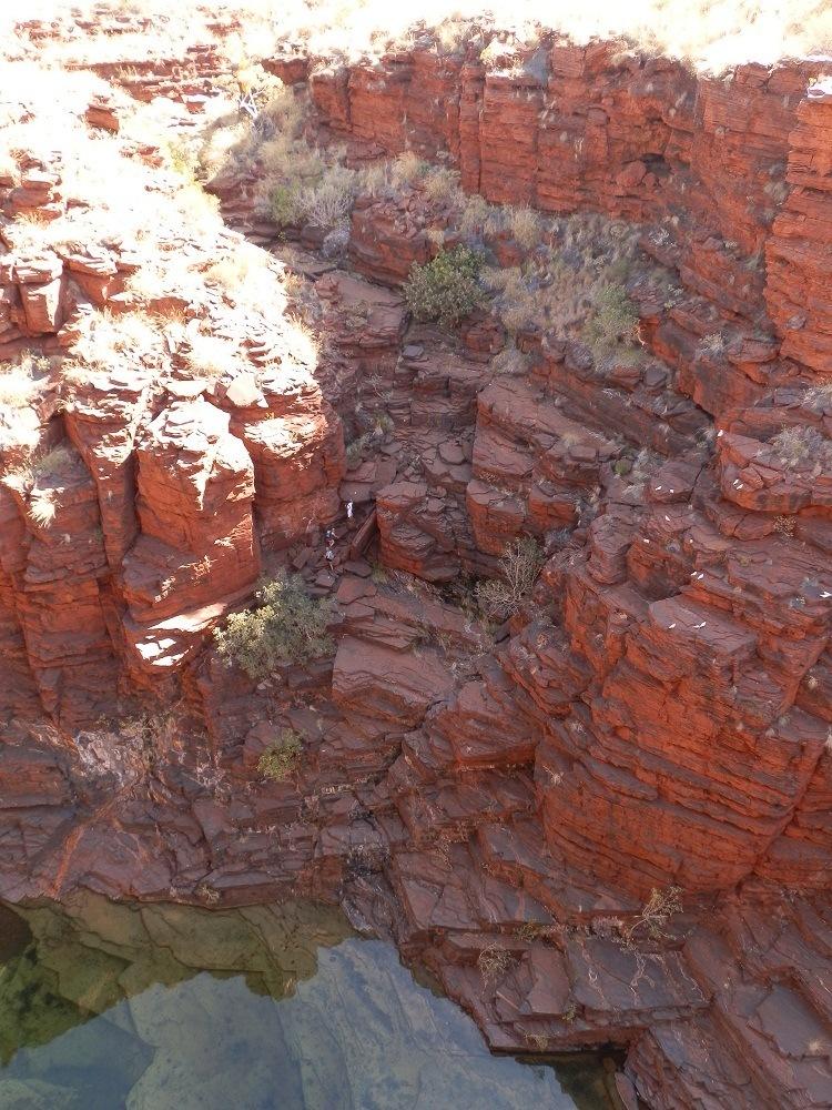 Climbing Joffre Gorge, Karijini National Park, Western Australia