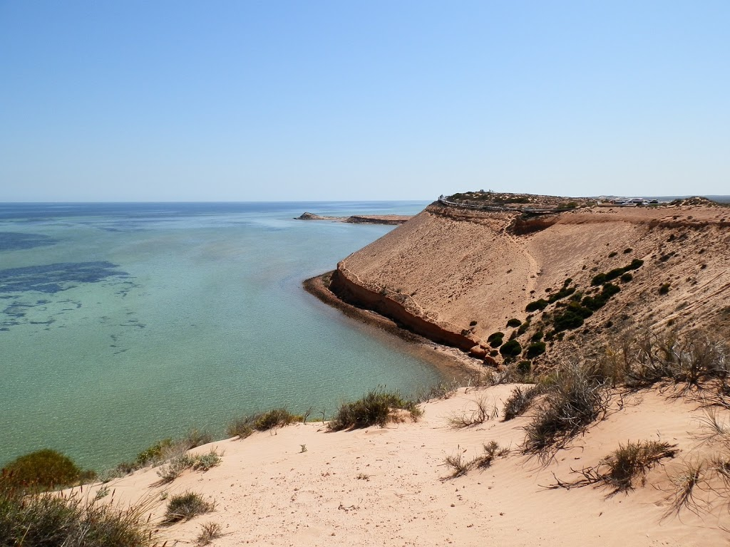 Alone at last!  Viewing Eagle Bluff and Boardwalk, via Denham, Shark Bay, Western Australia
