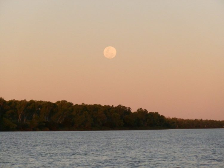 Moonrise over the Victoria River, via Timber Creek, Northern Territory