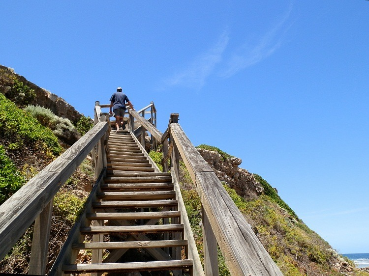 Stairway to heaven? Pretty close! Swimmers Beach access, South Australia