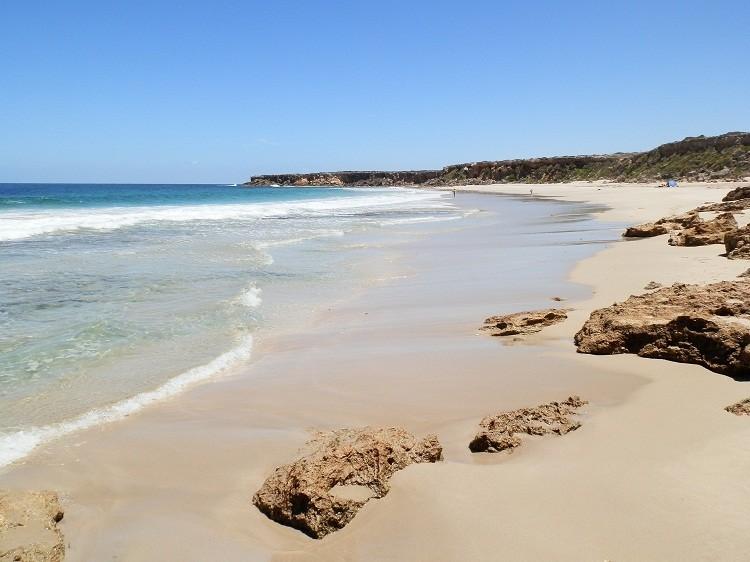On Swimmers Beach, Southern Yorke Peninsula, South Australia