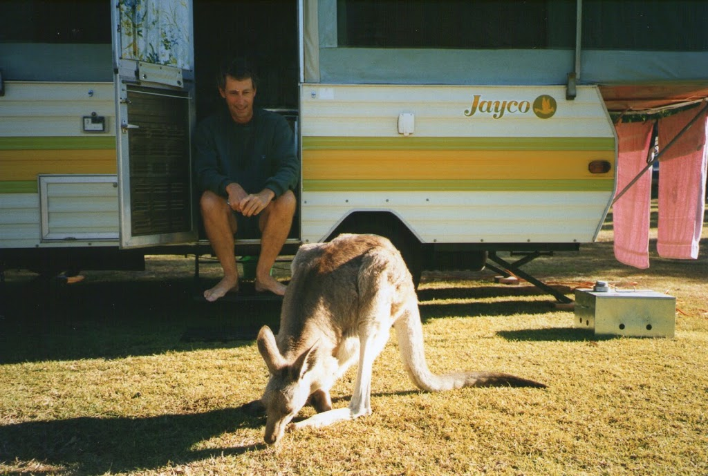 Cania Gorge Campground with Kangaroo