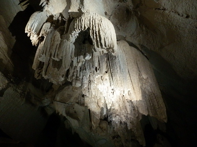 Limestone - and light! - in the Cutta Cutta Caves, via Katherine, Northern Territory
