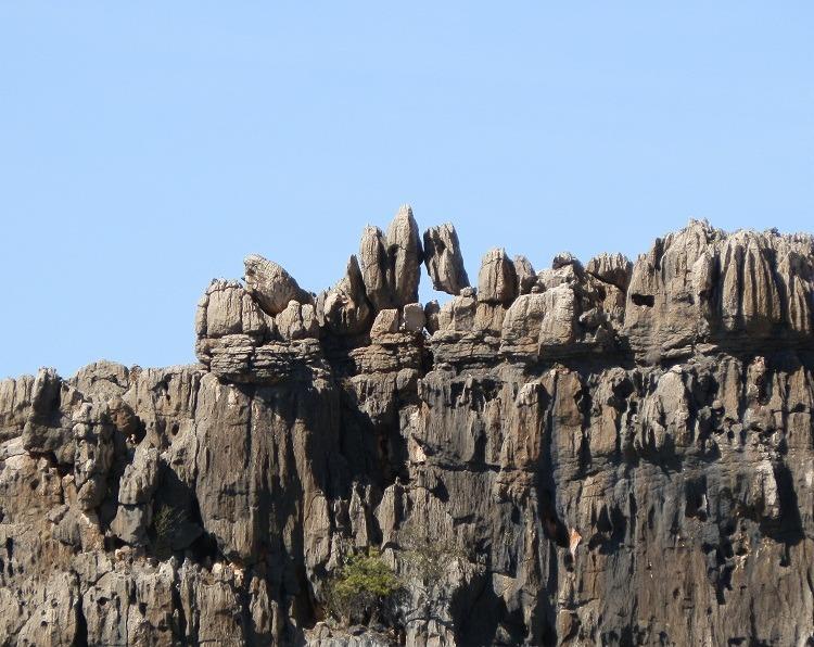 Devonian Reef Remnant Rock, Geikie Gorge, Western Australia