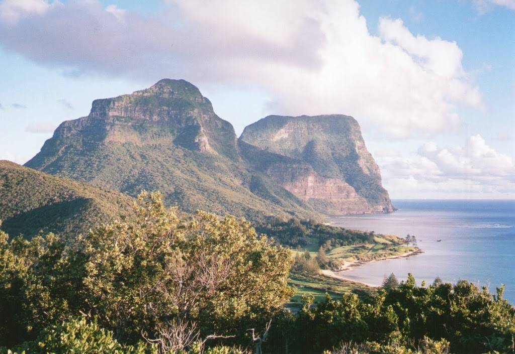 Mounts Lidgbird & Gower from Transit Hill Lookout, Lord Howe Island, New South Wales