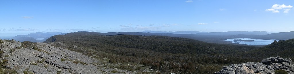 Lakes Wartook (r) and Bellfield (l) from NEW Grampians Lookout, Victoria