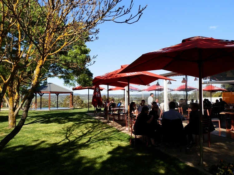 Dining at Tenafeate Creek Wines, Adelaide Hills, South Australia