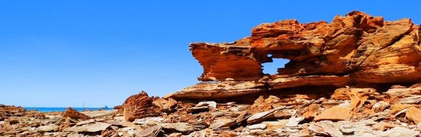 Rock formation, Broome, Western Australia