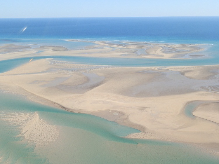 Willie Creek and surrounds from the air, via Broome
