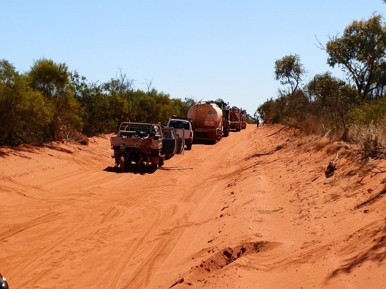 Blockade en route to James Price Point, Kimberley Coast, Western Australia