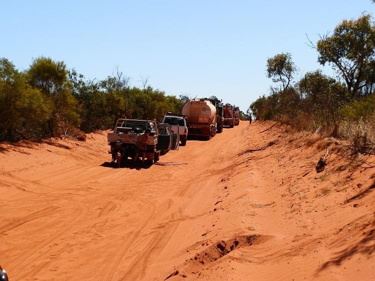 Blockade en route to James Price Point, Kimberley Coast, Western Australia