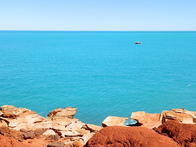 Blue and Red at Gantheaume Point, Broome, Western Australia