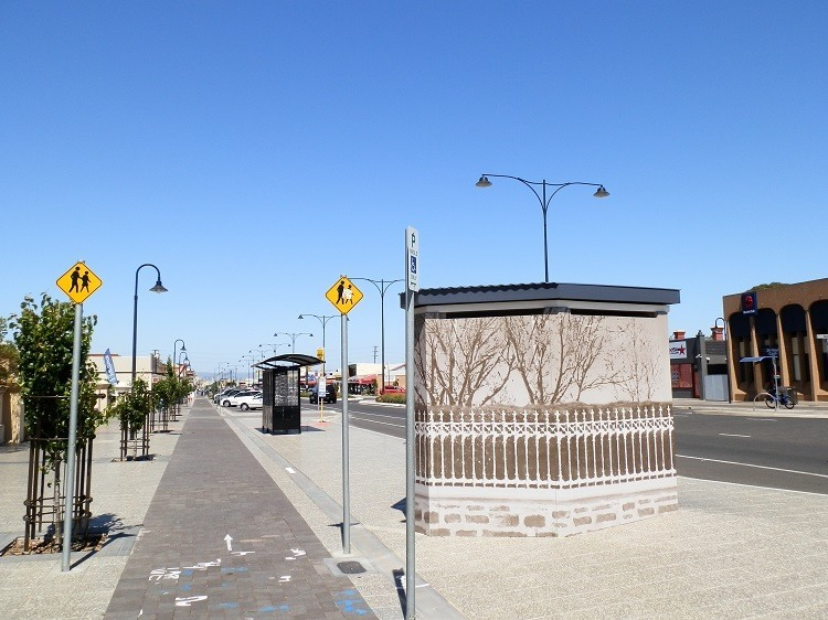 The well-disguised public amenities on a Semaphore Street, South Australia