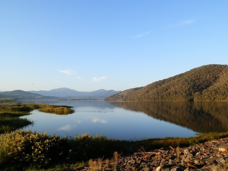 Dawn at Khancoban Pondage, Snowy Mountains, New South Wales