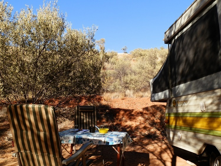 Breakfast is served, Ormiston Gorge Campground, Central Australia, Northern Territory