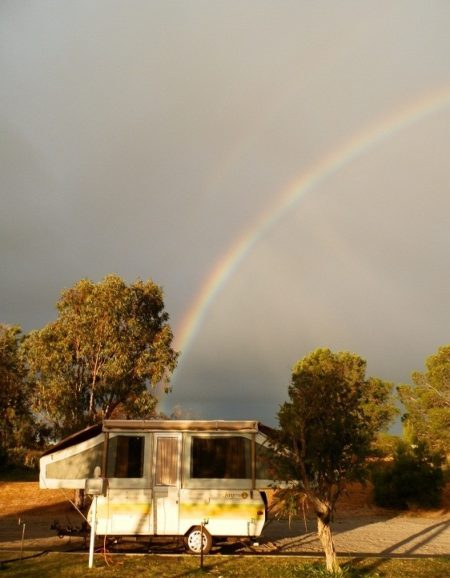 A sign - Pot of Gold at Carnamah Caravan Park, Western Australia