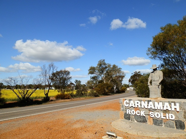Entrance to Carnamah, Western Australia
