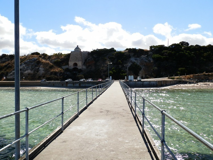 Limestone Kiln, Landslide and Loos from the Wool Bay Jetty