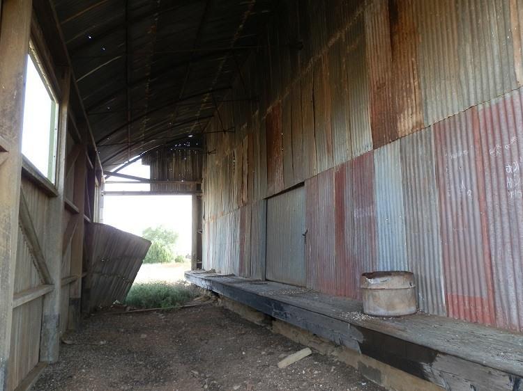 Inside the Eurelia Railway Station Goods Shed