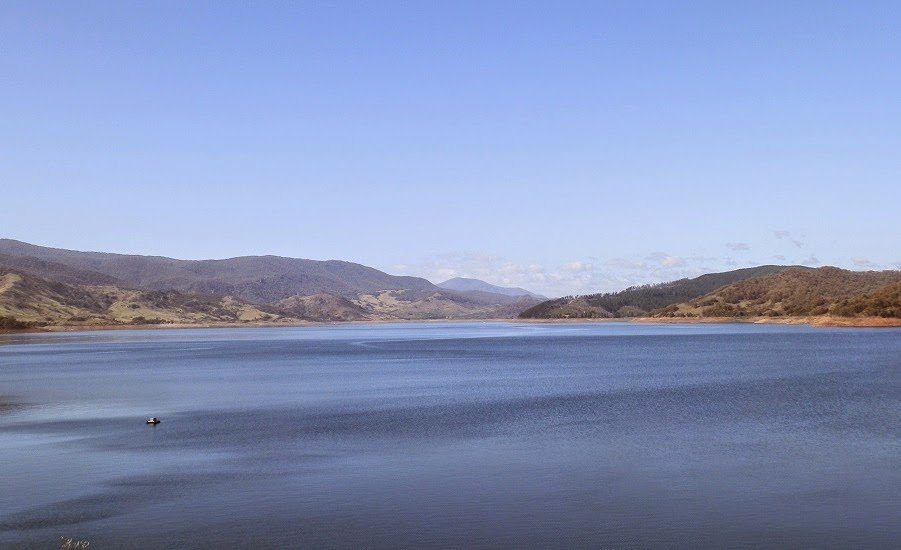 Blowering Dam from Dam Wall, via Tumut, New South Wales