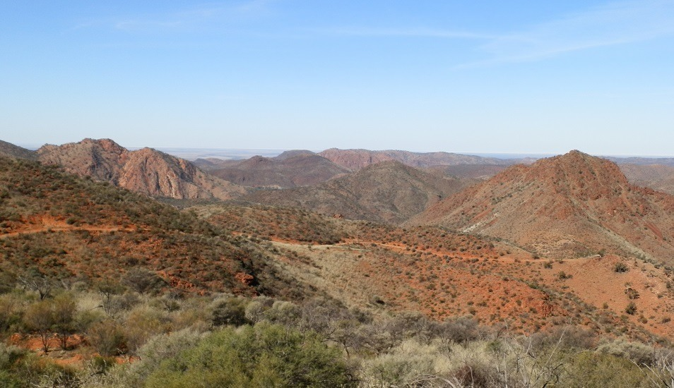 Arkaroola Ridge-top Tour view from Coulthard's Lookout, South Australia