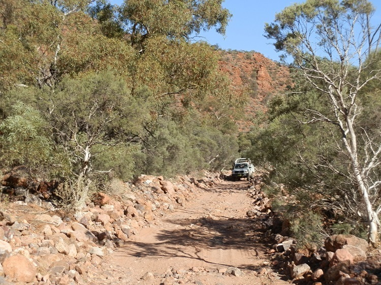Driving through the Creek, Arkaroola Ridge-top Tou
