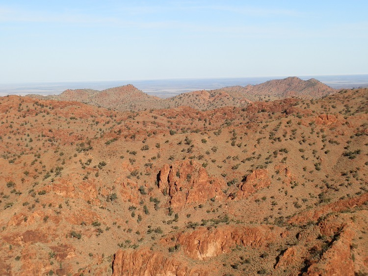Ragged Mountain Ranges, Sillers Lookout, Arkaroola Wilderness Sanctuary