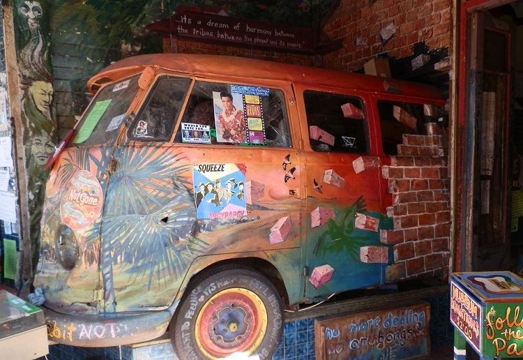 Cosmic Combi at Nimbin Museum entrance, New South Wales