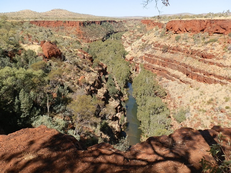 Dales Gorge from above on the Gorge Rim Walk, Karijini National Park