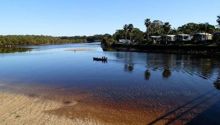 Brunswick River at Brunswick Heads, New South Wales, Australia