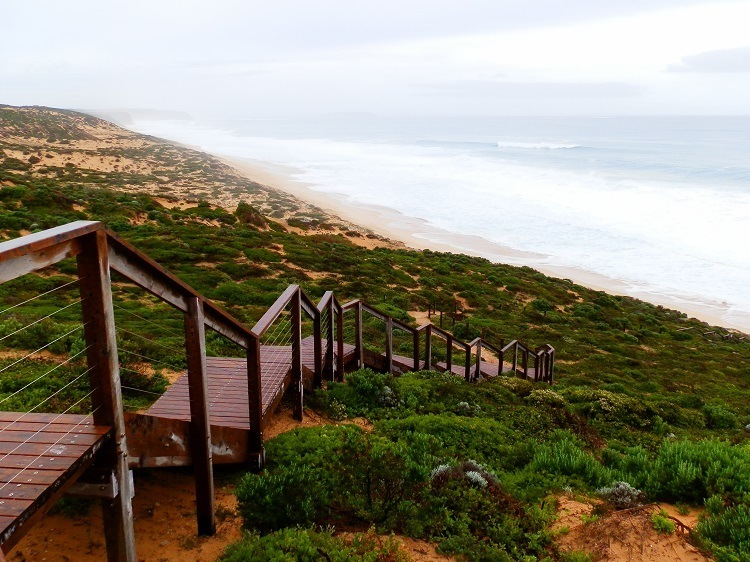 A wet day at West Cape, Innes National Park, South Australia