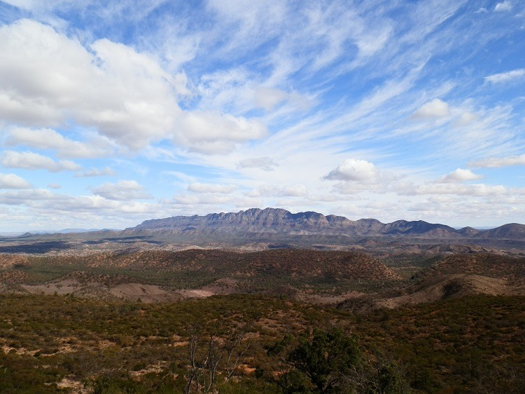 View from Bridle Gap, Flinders Ranges National Park, South Australia