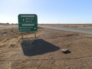Two Iconic OZ tracks meet at Marree