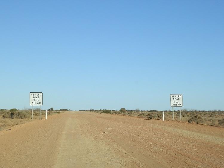 Warning! Sealed Road AHEAD!!