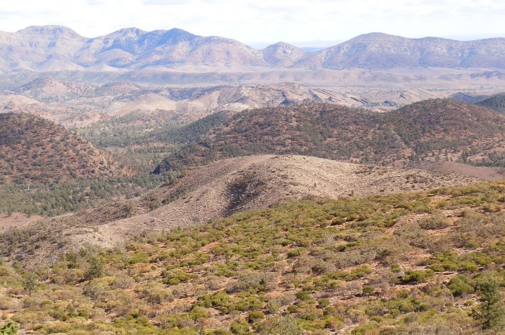 View across the Bunbinyunna, Elder and Red Ranges from Bridle Gap, Wilpena Pound, South Australia