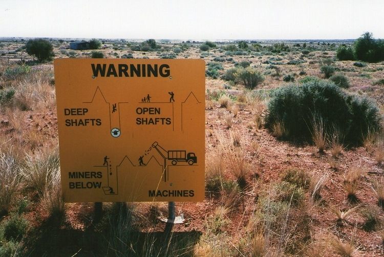 Warning Sign, White Cliffs, New South Wales