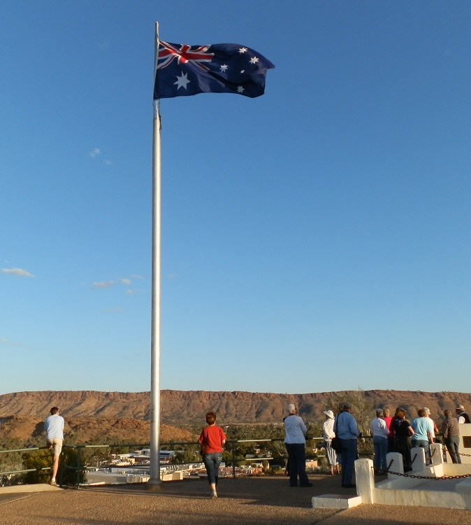 Aussie Flag at Anzac Hill, Things to do in Alice Springs, Northern Territory