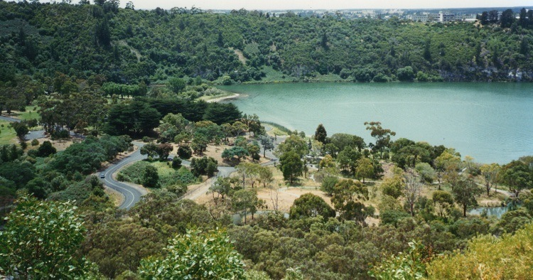 Green Lake at Mt Gambier, South Australia